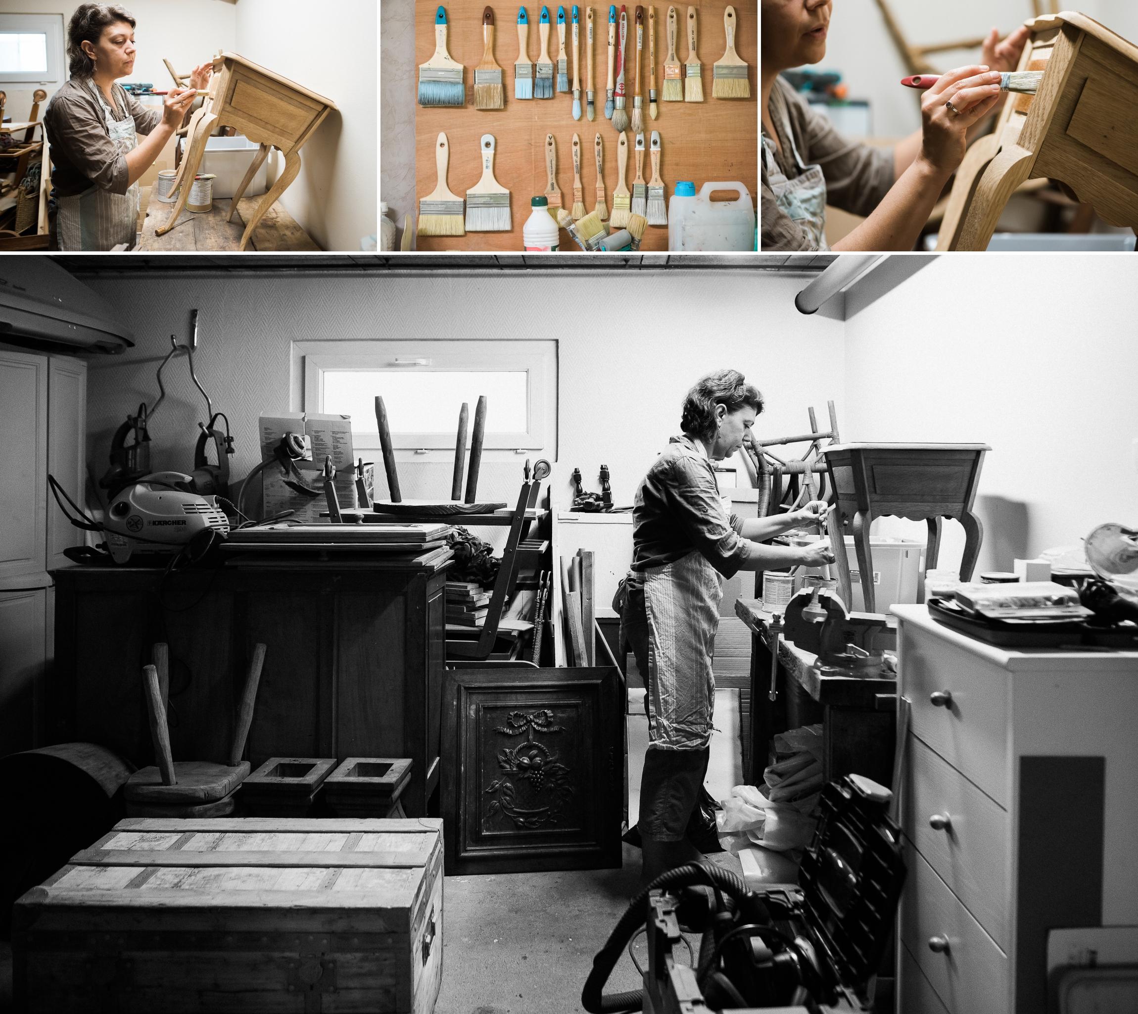 seance photo  chez un artisan à dijon